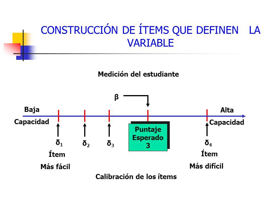 CONSTRUCCIÓN DE ÍTEMS QUE DEFINEN LA VARIABLE