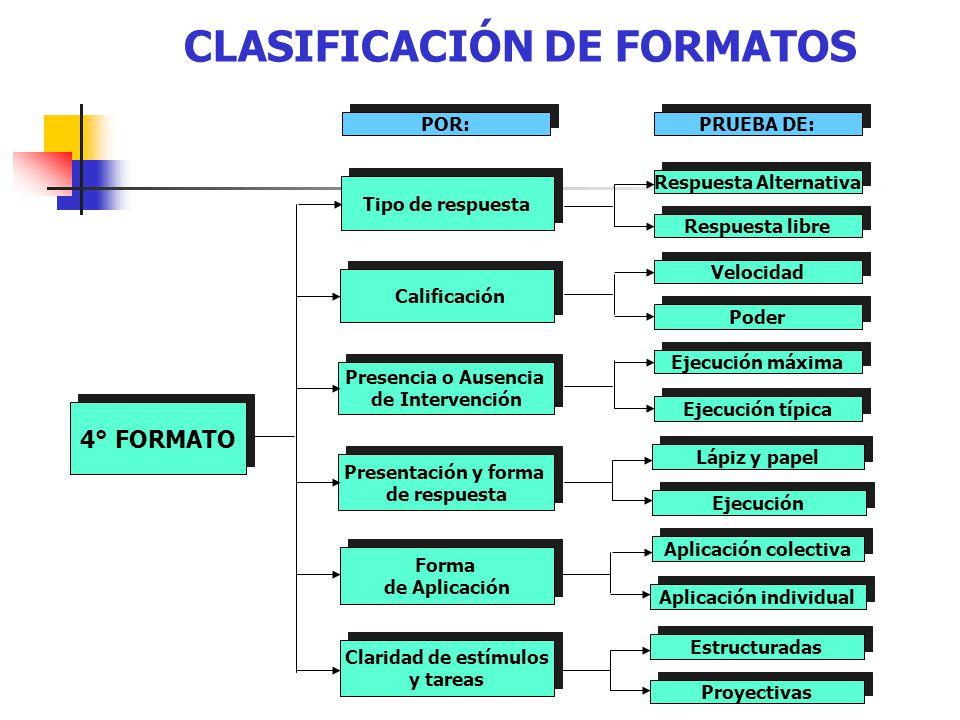 CLASIFICACIÓN DE FORMATOS