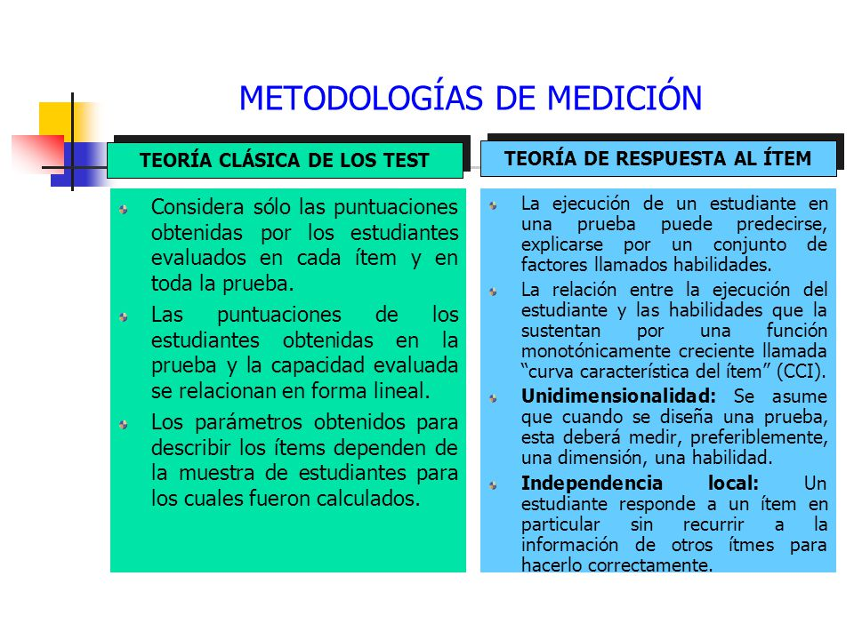 METODOLOGÍAS DE MEDICIÓN