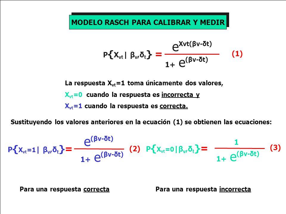 MODELO RASCH PARA CALIBRAR Y MEDIR
