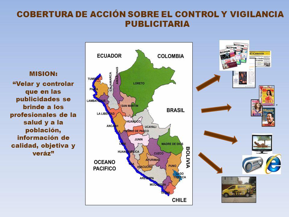 COBERTURA DE ACCIÓN SOBRE EL CONTROL Y VIGILANCIA PUBLICITARIA