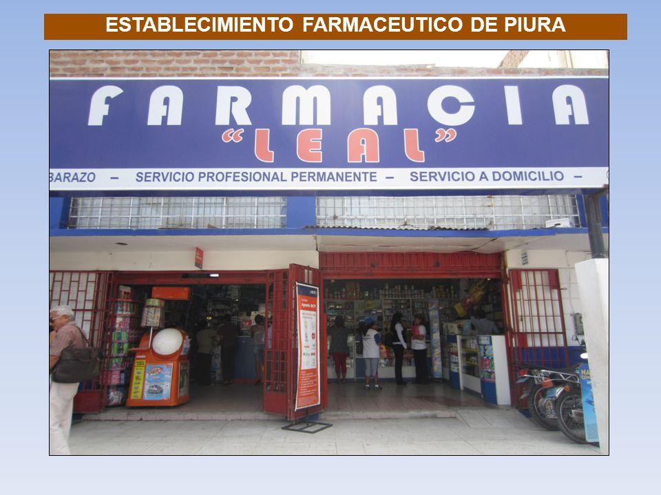 ESTABLECIMIENTO FARMACEUTICO DE PIURA