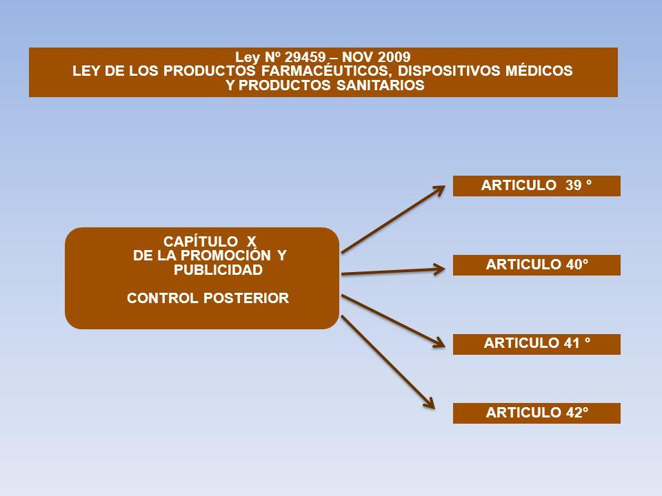LEY DE LOS PRODUCTOS FARMACÉUTICOS, DISPOSITIVOS MÉDICOS
