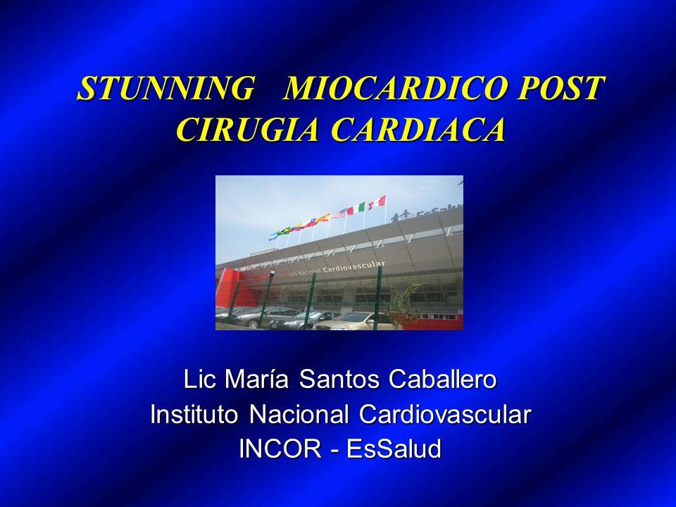 STUNNING MIOCARDICO POST CIRUGIA CARDIACA