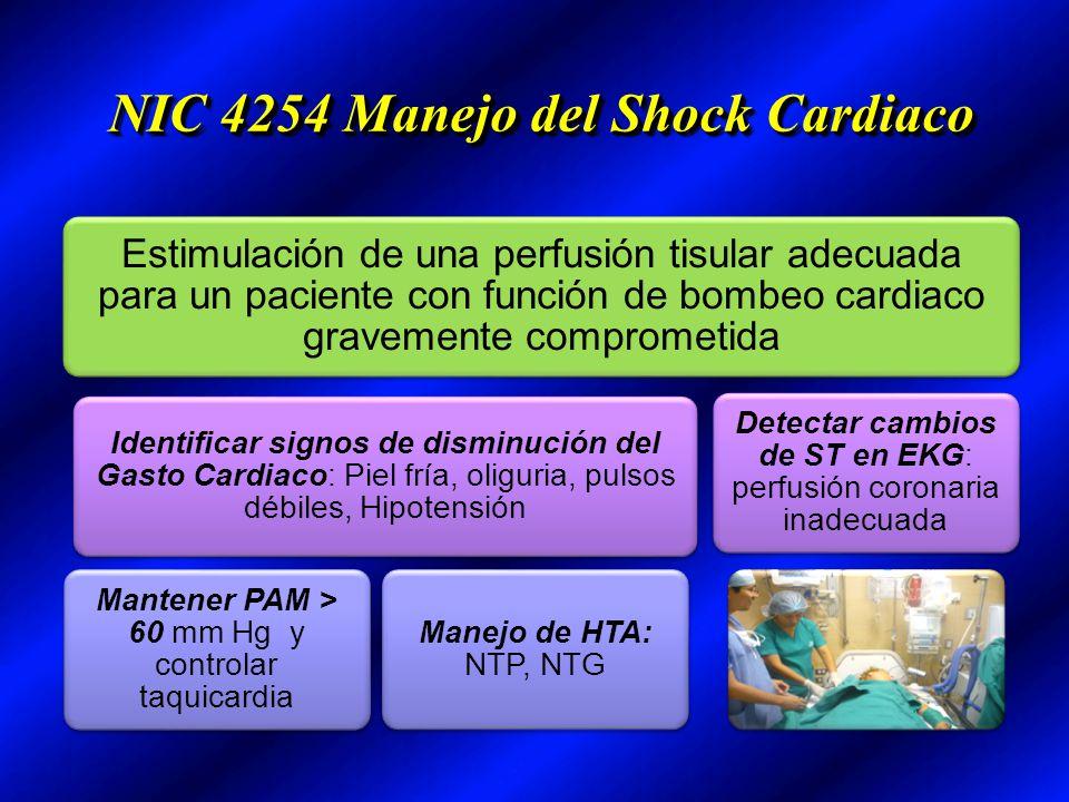 NIC 4254 Manejo del Shock Cardiaco