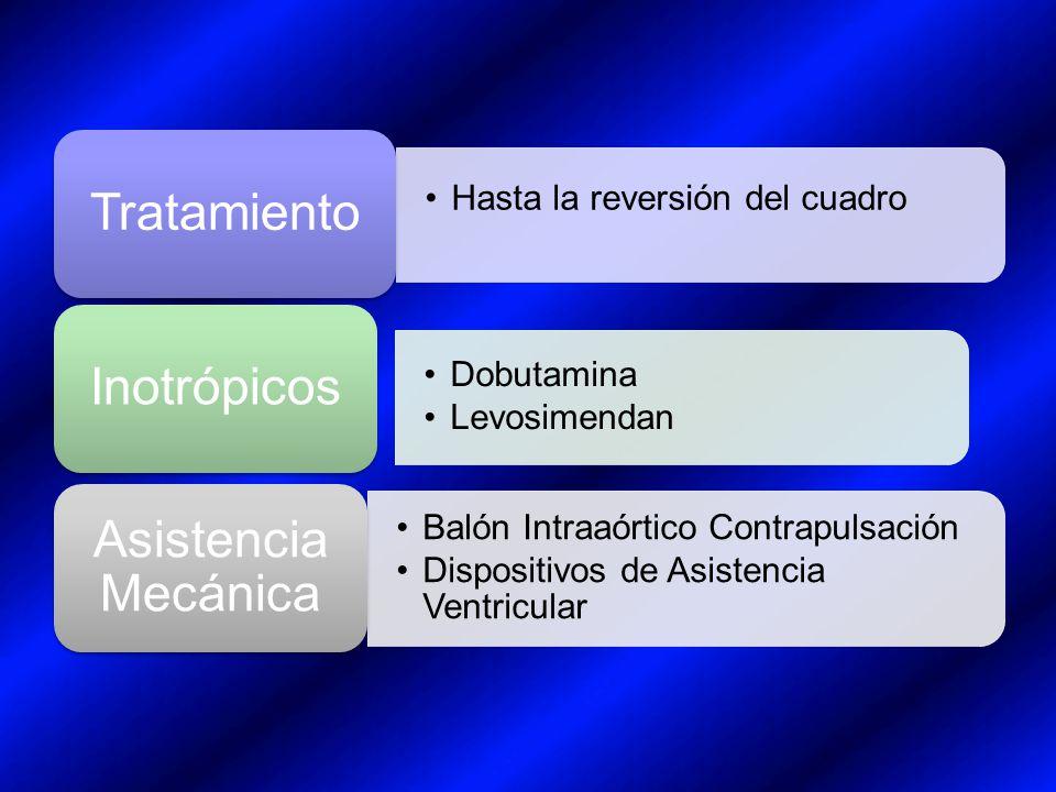 Tratamiento Inotrópicos Asistencia Mecánica