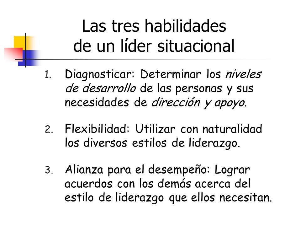 Las tres habilidades de un líder situacional