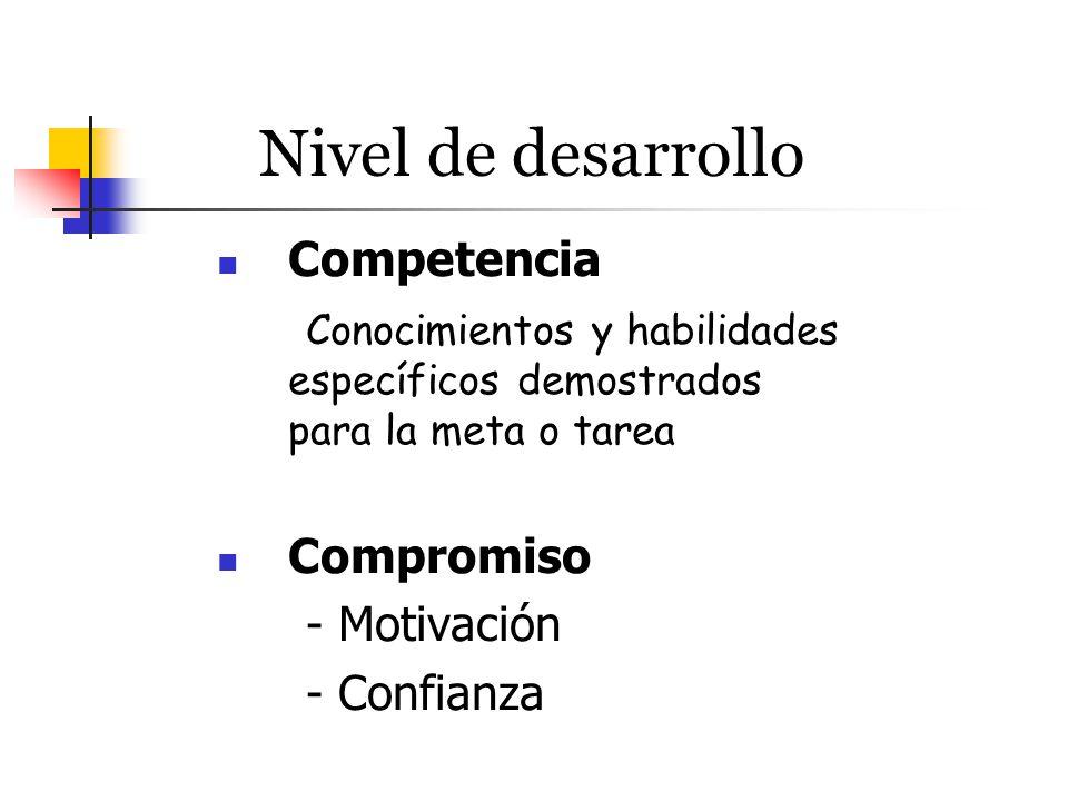 Nivel de desarrollo Competencia