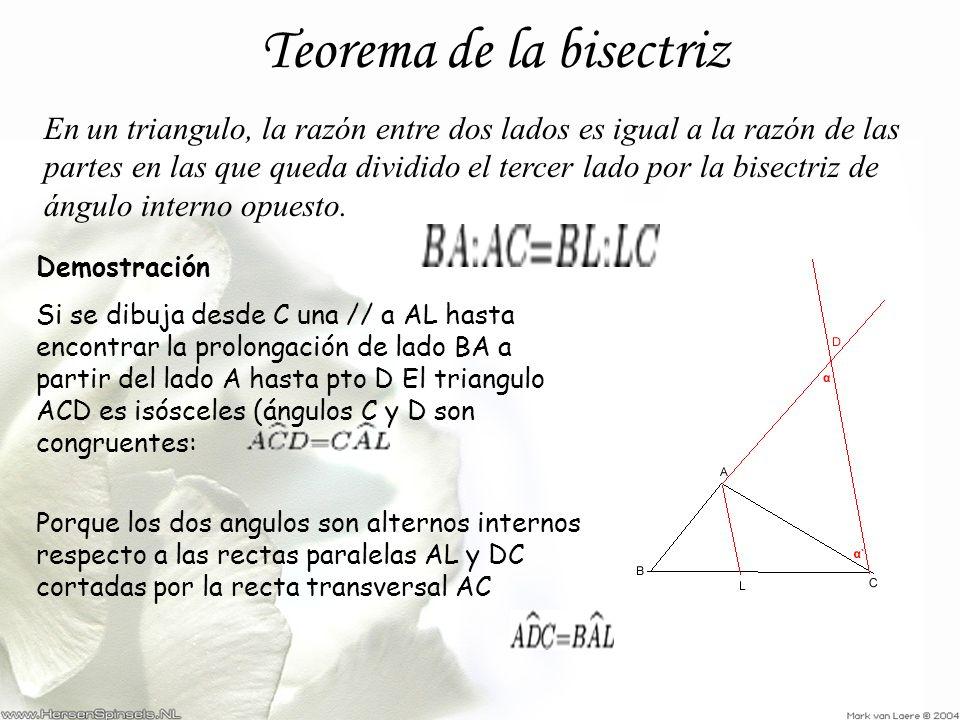 Teorema de la bisectriz