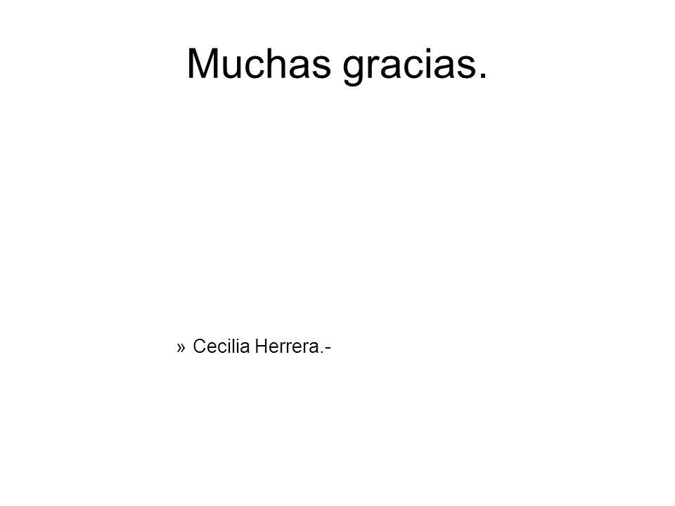 Muchas gracias. Cecilia Herrera.-
