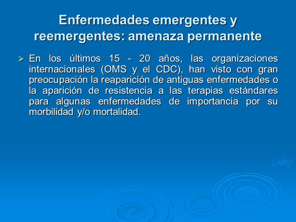 Enfermedades emergentes y reemergentes: amenaza permanente