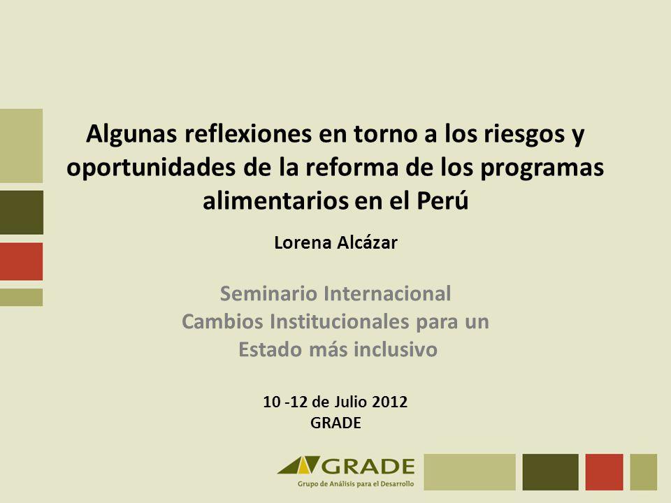 Seminario Internacional Cambios Institucionales para un
