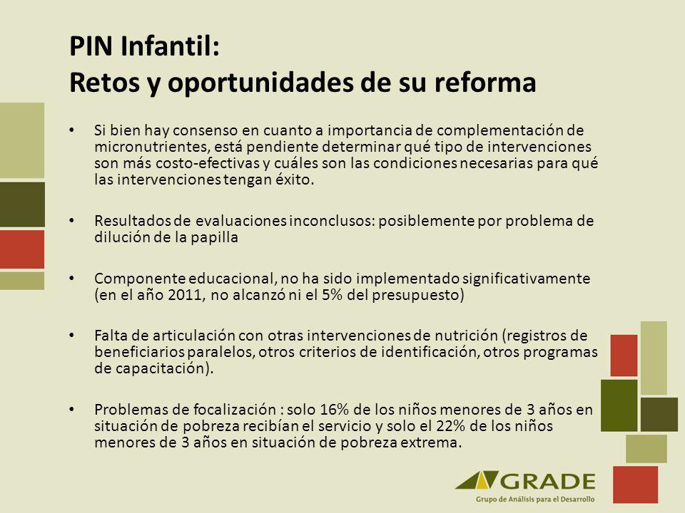 PIN Infantil: Retos y oportunidades de su reforma