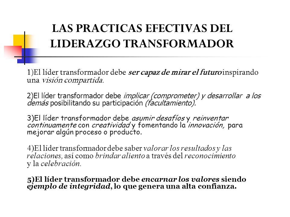 LAS PRACTICAS EFECTIVAS DEL LIDERAZGO TRANSFORMADOR