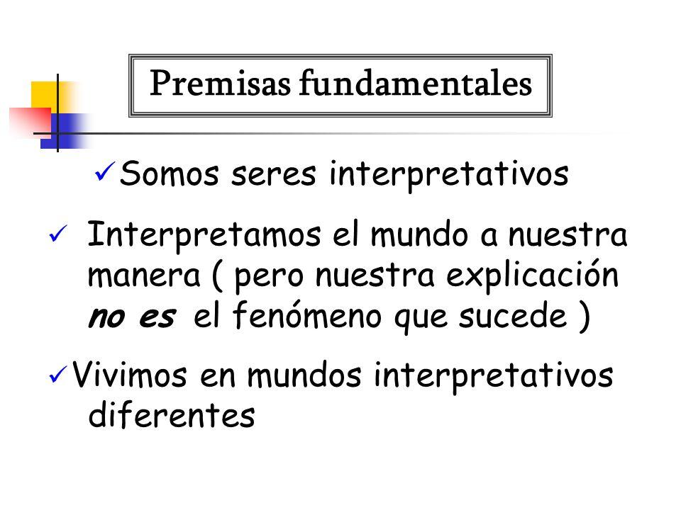 Somos seres interpretativos