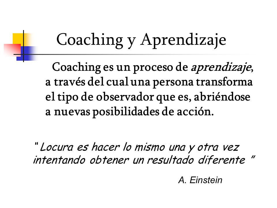 Coaching y Aprendizaje