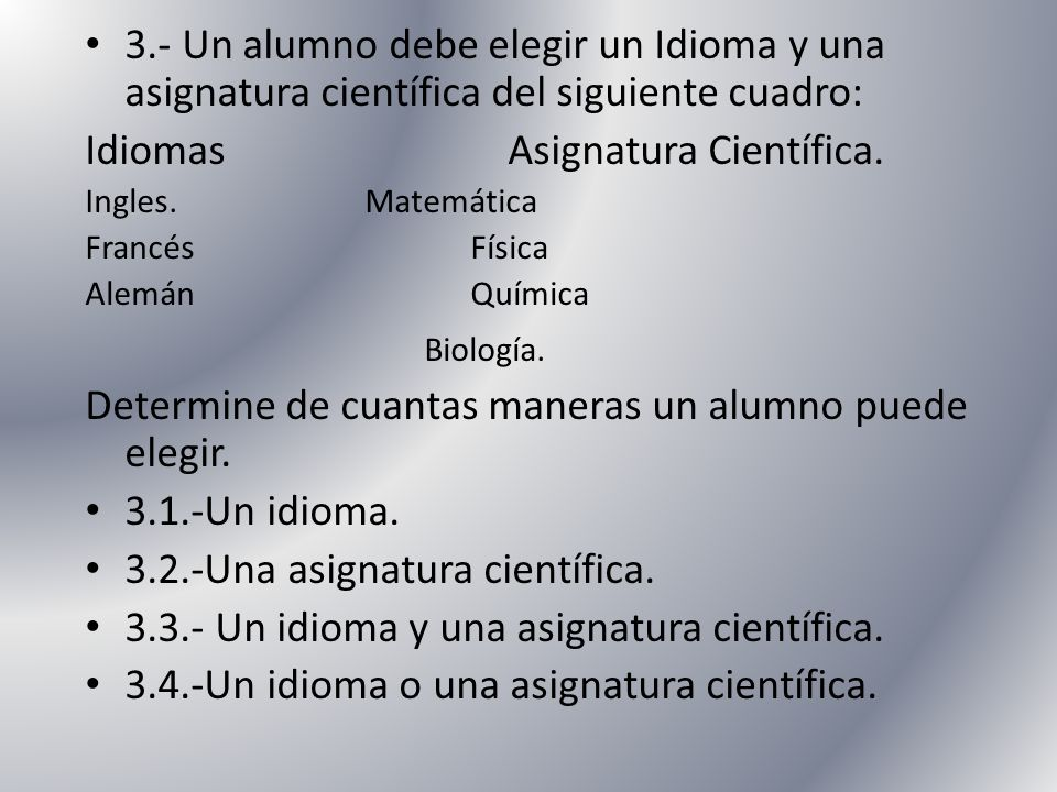 Idiomas Asignatura Científica.