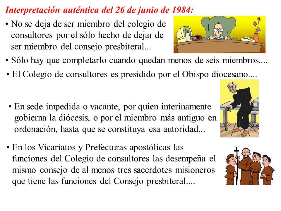 Interpretación auténtica del 26 de junio de 1984: