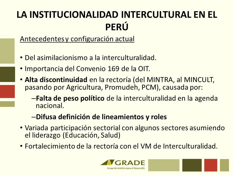 LA INSTITUCIONALIDAD INTERCULTURAL EN EL PERÚ