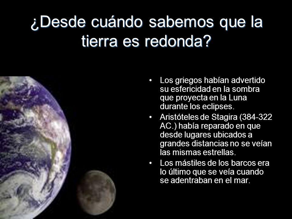 ¿Desde cuándo sabemos que la tierra es redonda