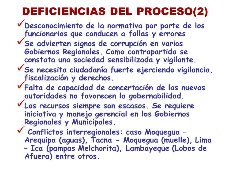 DEFICIENCIAS DEL PROCESO(2)