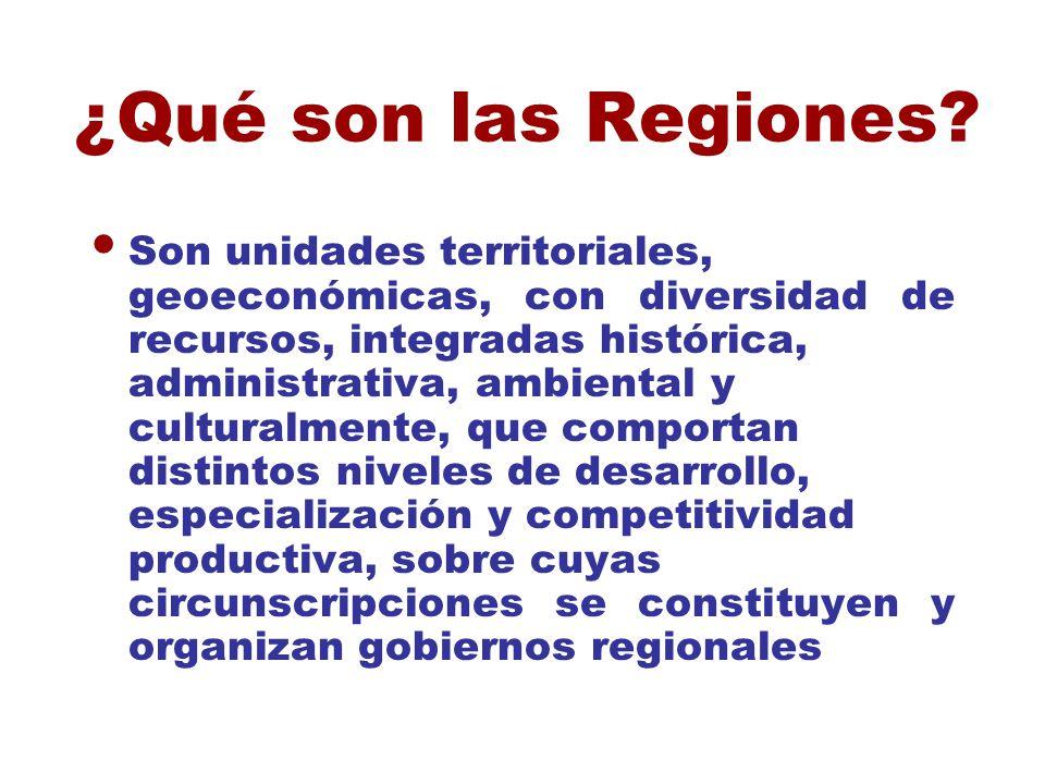 ¿Qué son las Regiones