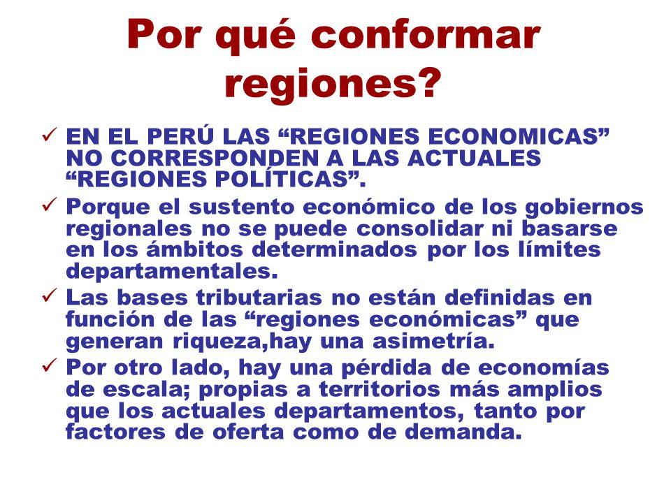 Por qué conformar regiones
