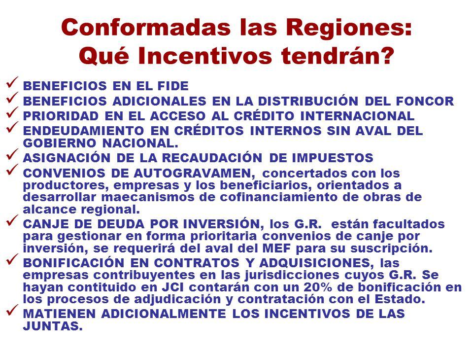 Conformadas las Regiones: Qué Incentivos tendrán
