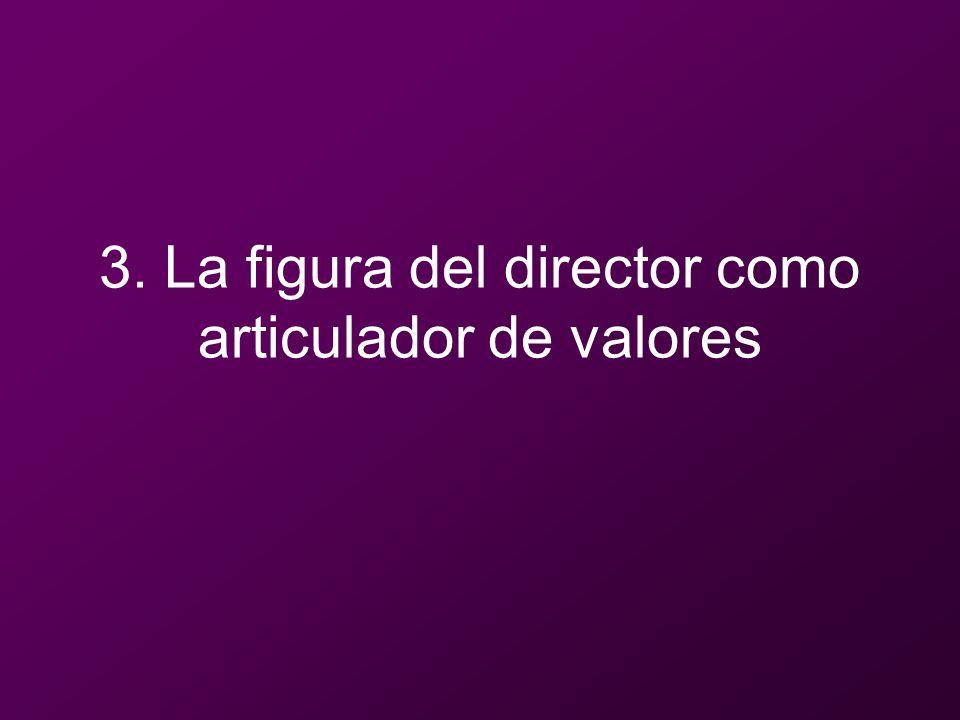 3. La figura del director como articulador de valores