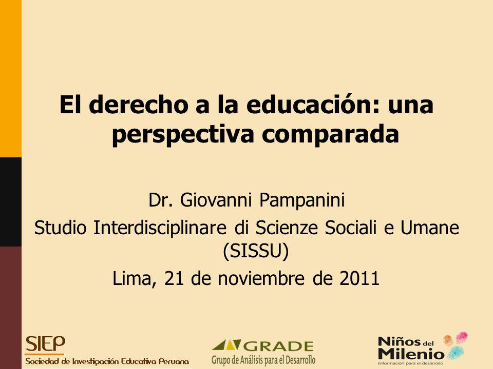 El derecho a la educación: una perspectiva comparada