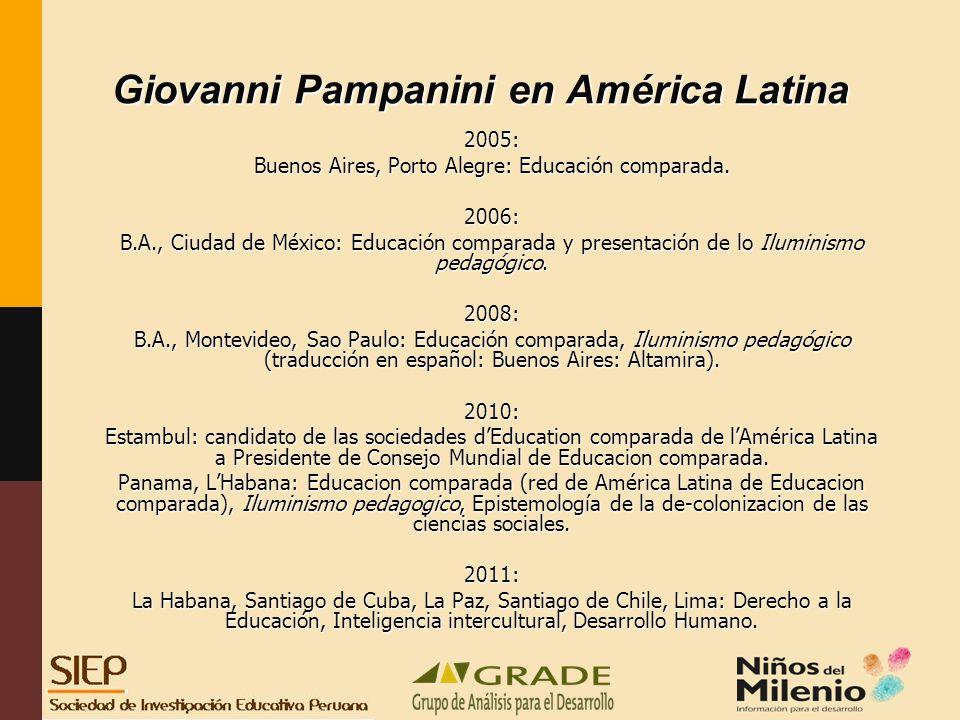Giovanni Pampanini en América Latina