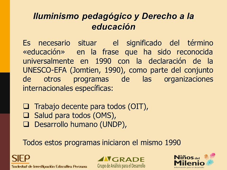 Iluminismo pedagógico y Derecho a la educación
