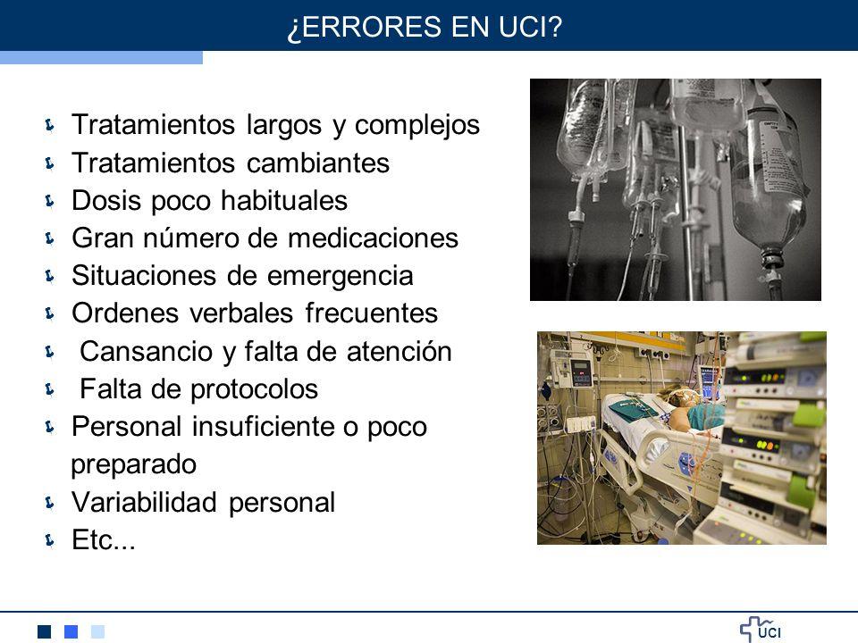 ¿ERRORES EN UCI Tratamientos largos y complejos