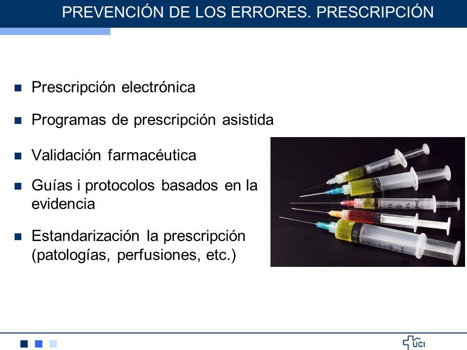 PREVENCIÓN DE LOS ERRORES. PRESCRIPCIÓN