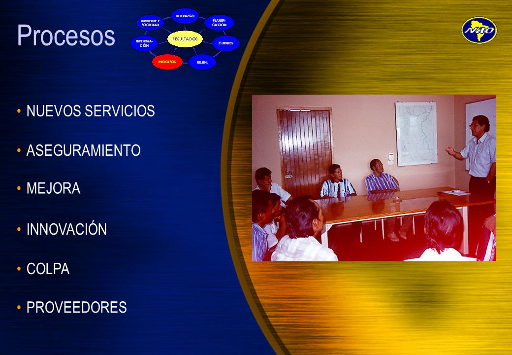 Procesos NUEVOS SERVICIOS ASEGURAMIENTO MEJORA INNOVACIÓN COLPA