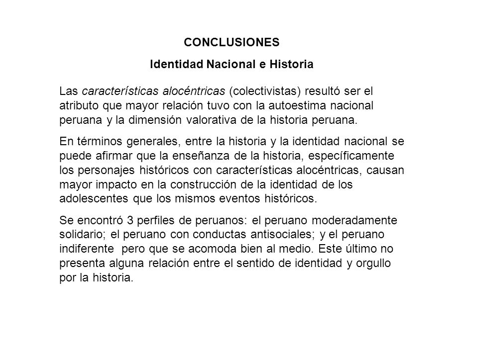 Identidad Nacional e Historia