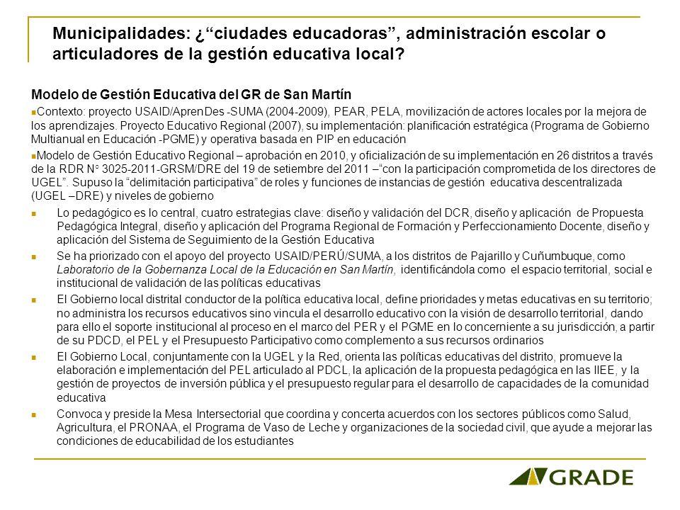 Modelo de Gestión Educativa del GR de San Martín