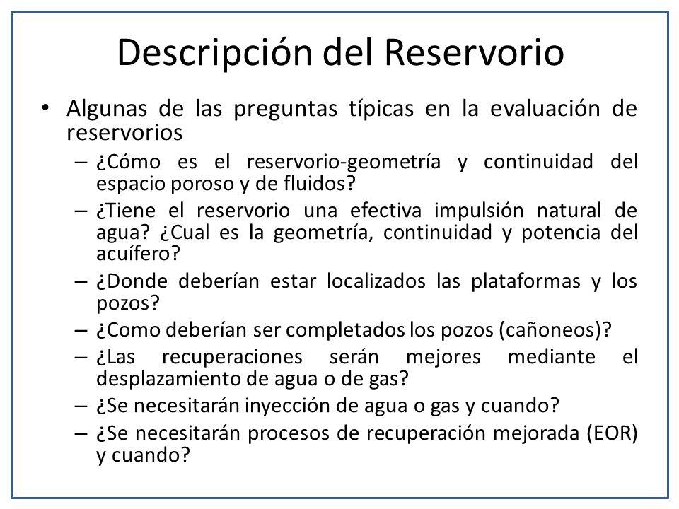 Descripción del Reservorio