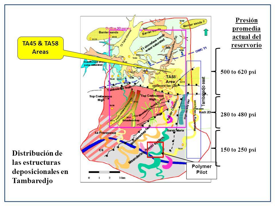 Presión promedia actual del reservorio