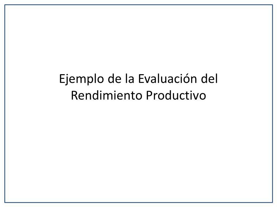 Ejemplo de la Evaluación del Rendimiento Productivo