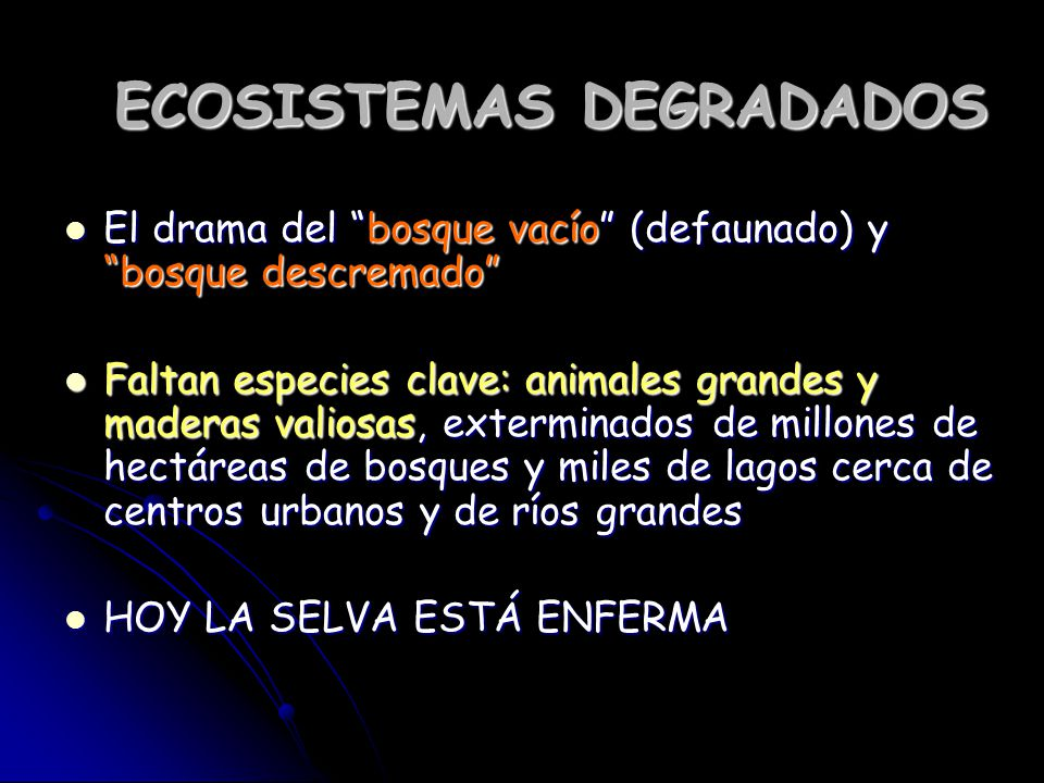 ECOSISTEMAS DEGRADADOS