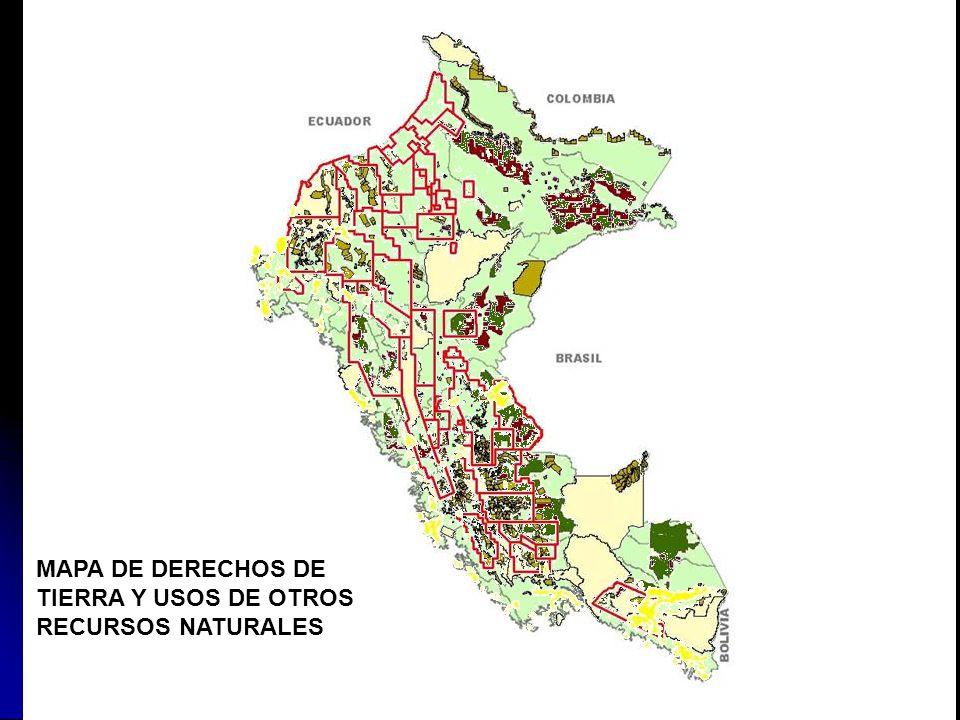 MAPA DE DERECHOS DE TIERRA Y USOS DE OTROS RECURSOS NATURALES