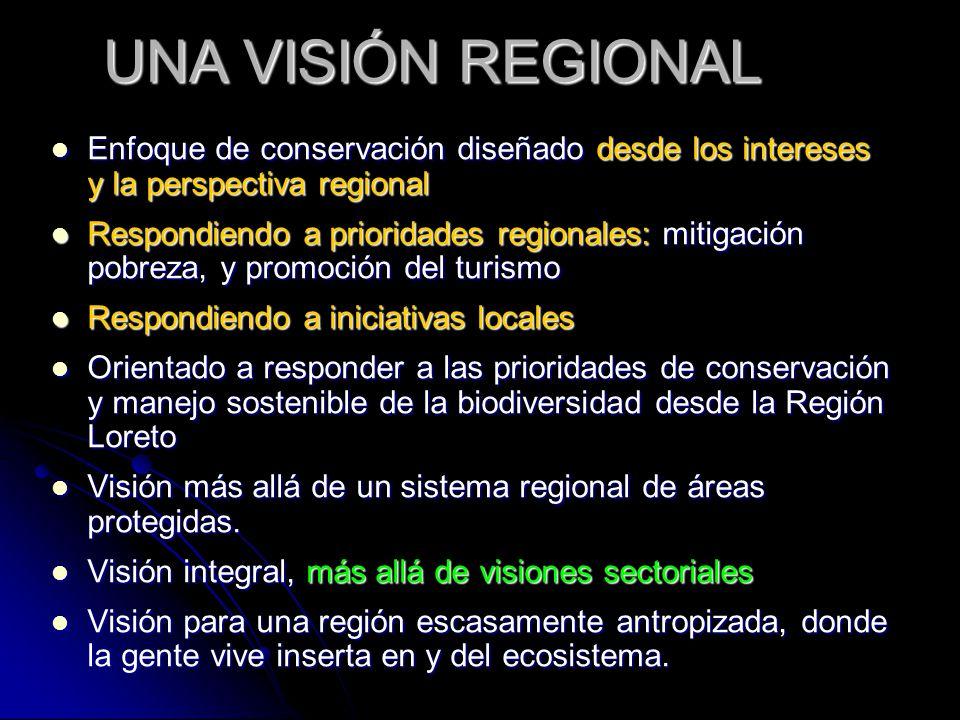 UNA VISIÓN REGIONAL Enfoque de conservación diseñado desde los intereses y la perspectiva regional.