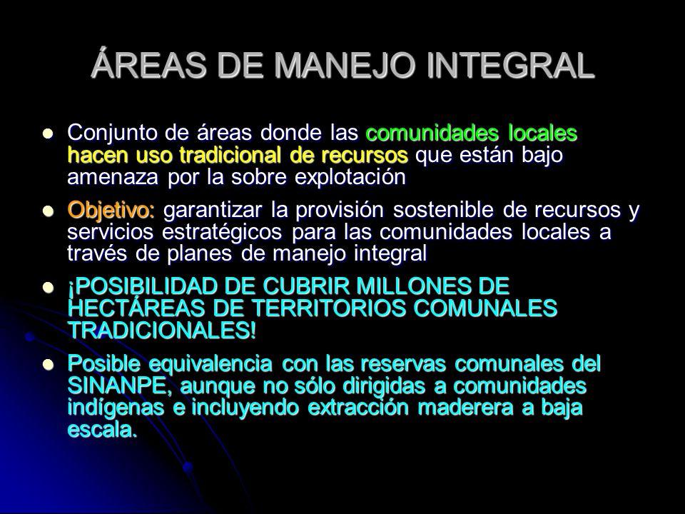 ÁREAS DE MANEJO INTEGRAL