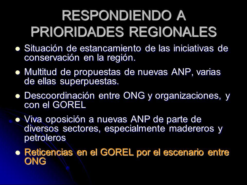 RESPONDIENDO A PRIORIDADES REGIONALES