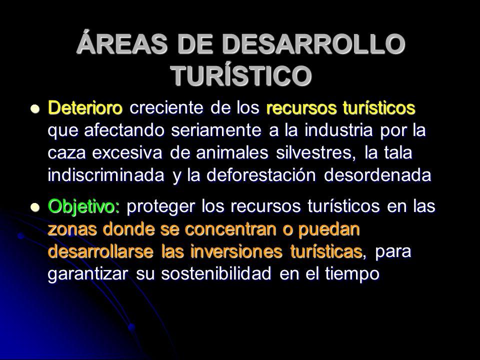 ÁREAS DE DESARROLLO TURÍSTICO