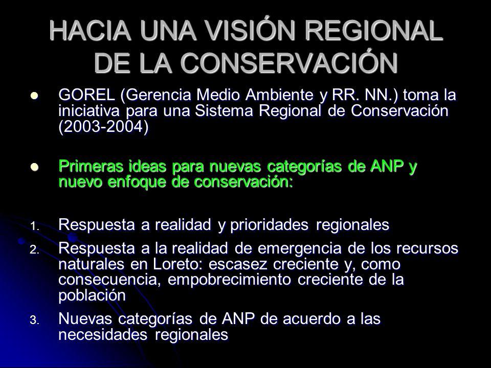 HACIA UNA VISIÓN REGIONAL DE LA CONSERVACIÓN