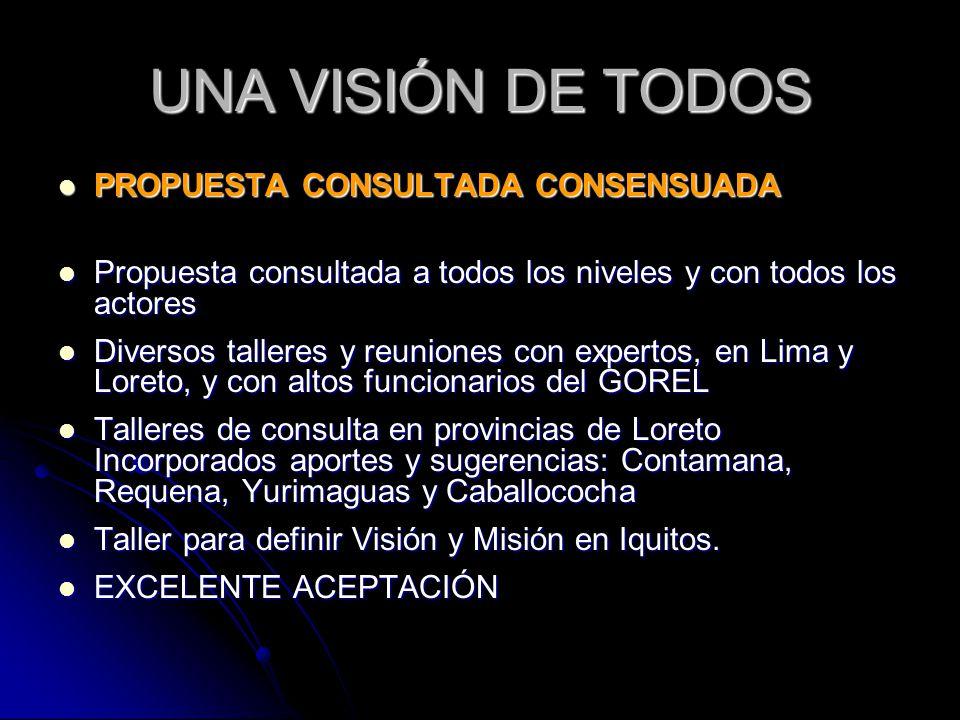 UNA VISIÓN DE TODOS PROPUESTA CONSULTADA CONSENSUADA