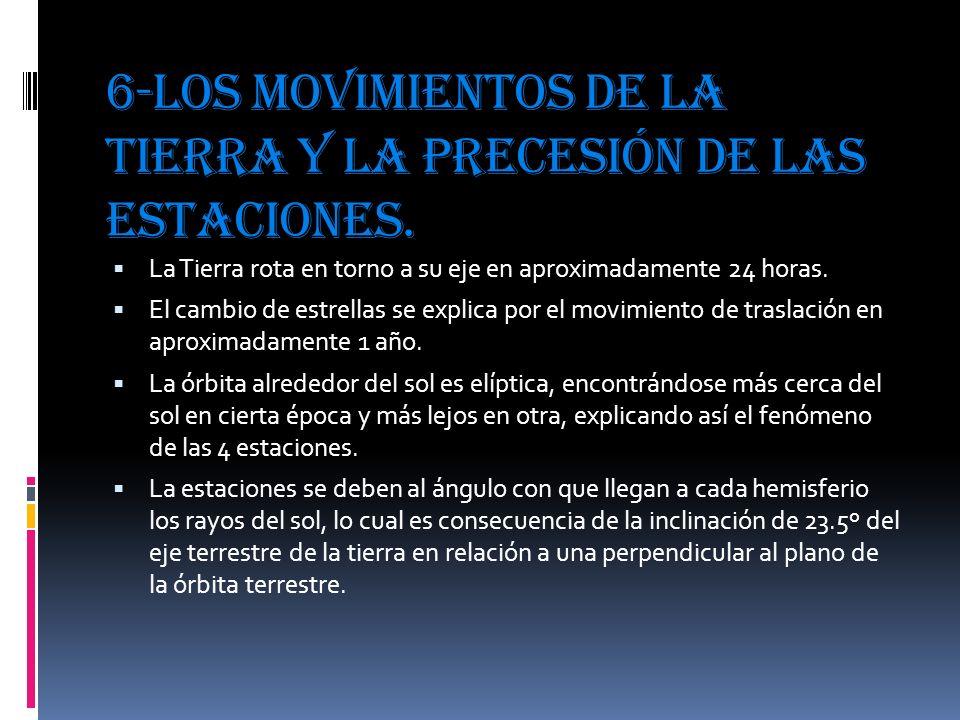6-Los movimientos de la tierra y la precesión de las estaciones.