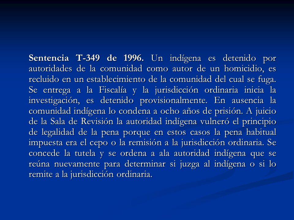 Sentencia T-349 de 1996.